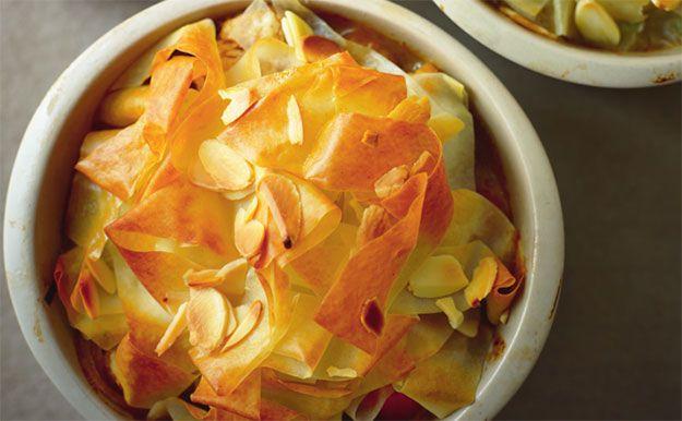 Marroquíes pasteles de carne de pollo con comino y cilantro, y un top filo crujiente | Noticias | Lorena Pascale
