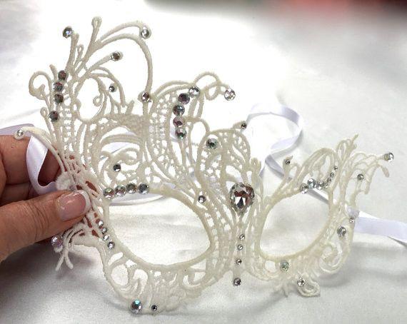 Wedding Mask, Bridal Mask, Rhinestone Mask, Carnival Mask, Masquerade Mask