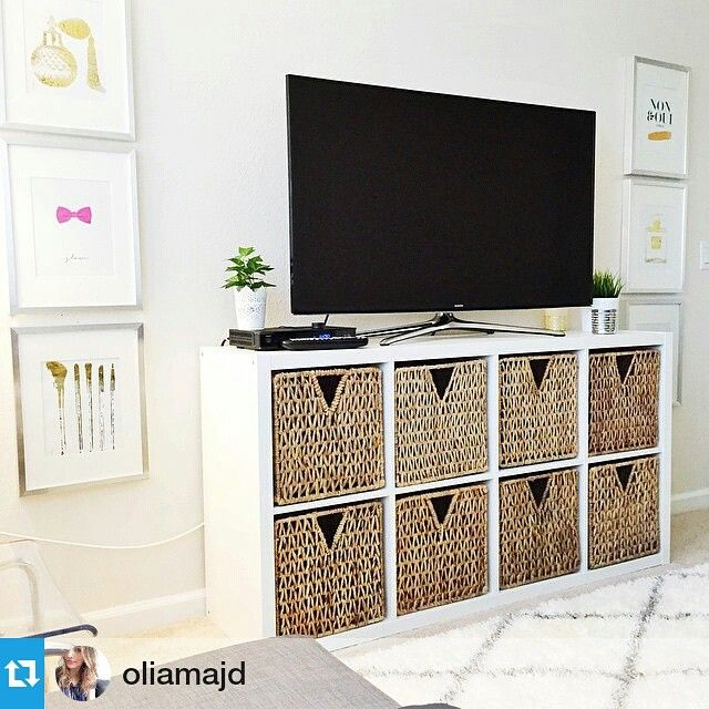 """Great use of your KALLAX shelves @oliamajd! Organization, style, and functionality :) Thanks for the share. #IKEAUSA #style #homedecor"""