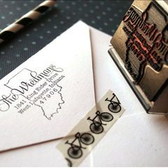 Get this custom address stamp before the holidays. Order today to get it in time!