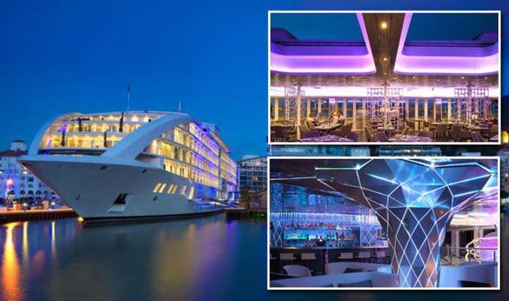 Gibraltar holidays go FIVE star: Super yacht hotel opens rooftop restaurant