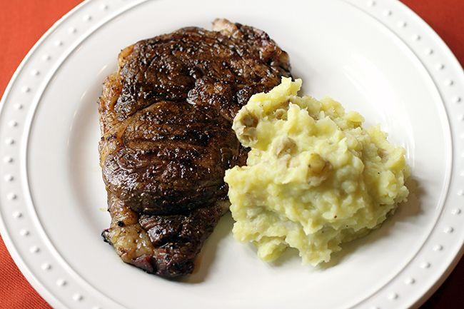Mocha Steak and Vanilla Mashed Potatoes   Food   Pinterest