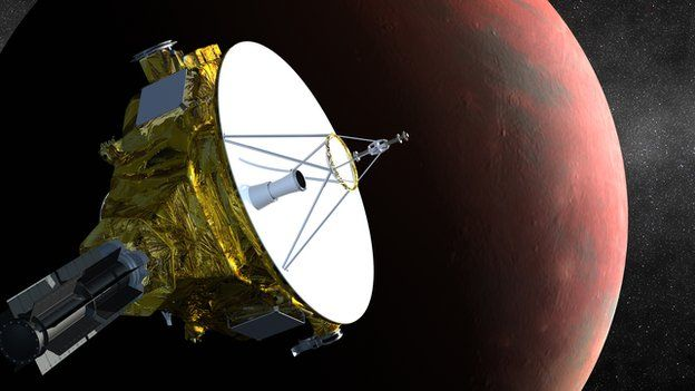 New Horizons probe eyes Pluto for historic encounter - Source - BBC News - © 2014 BBC #Pluto, #Probe, #Space