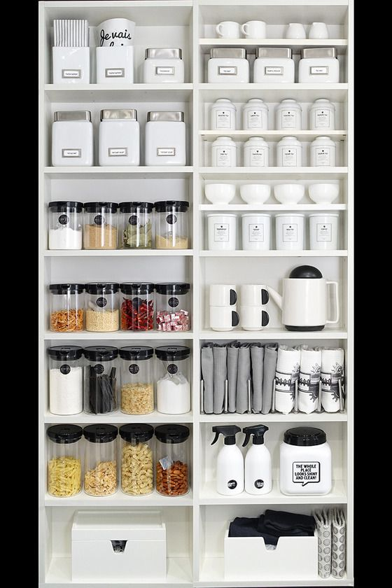 an organized kitchen from a Japanese blog