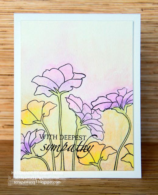 The Craft's Meow Store Blog Hope Blooms stamp set and Faber-Castell's Gelatos.