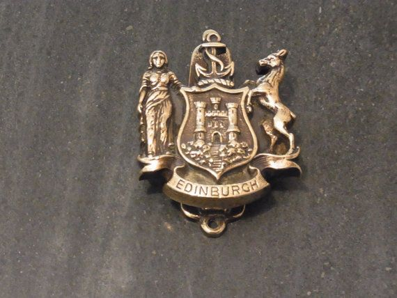 Vintage Brass Door Knocker Coat Of Arms By WhiteHartAntiques