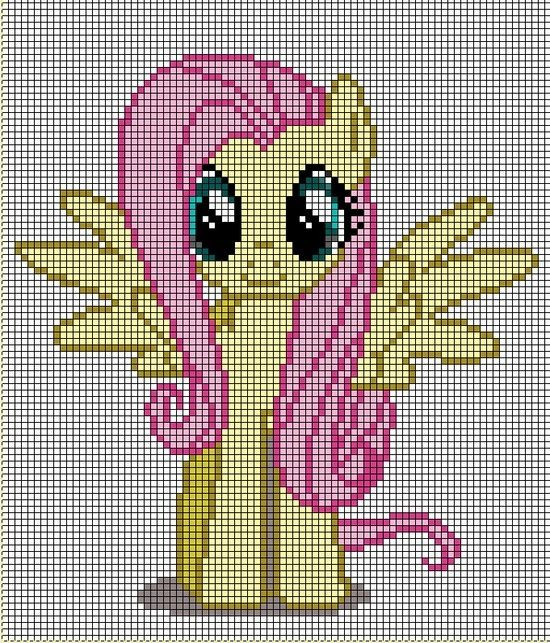 my little pony cross stitch patterns to print fluttershy | little pony