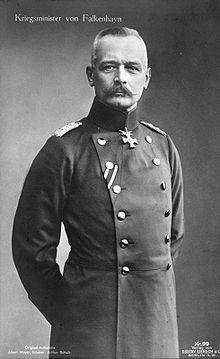 Chief of General Staff and Minister of War Erich von Falkenhayn