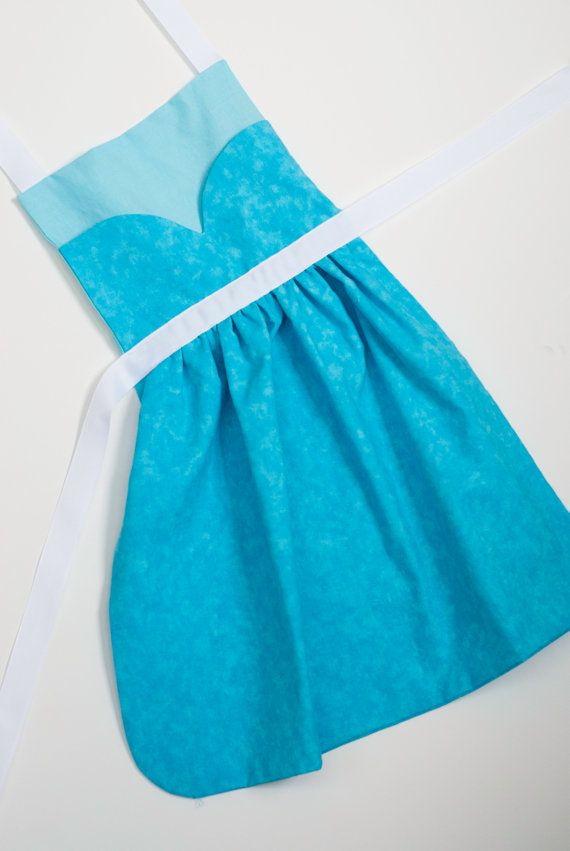 Disney+Frozen+princess+Elsa+dress+up+apron+3+by+SimplyRoyalDress,+$24.00