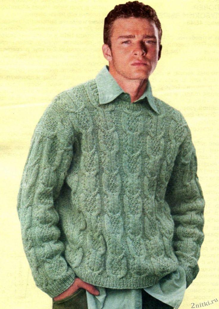 Тёплый мужской свитер