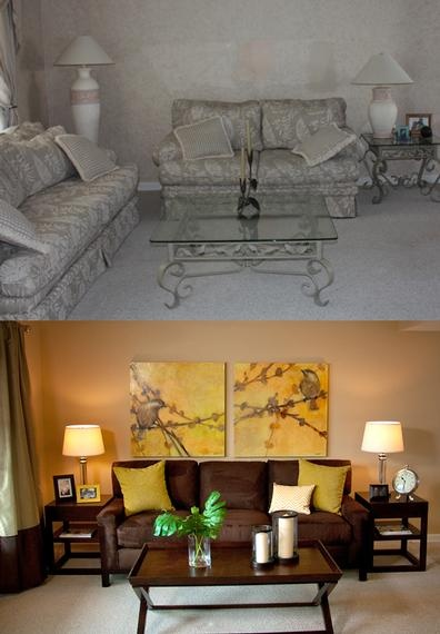 Beautiful Before After Living Room Makeover That Is A Feast For The Eyes Via Sabrina Soto HGTV