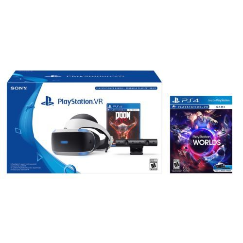 14c596b2a0f PlayStation VR Doom Bundle + PSVR - VR Worlds - PlayStation 4