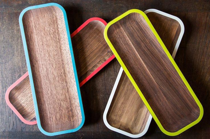 Small WUD Walnut Tray by David Rasmussen Design (via sfgirlbybay)