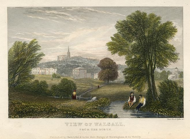 Staffordshire, Walsall view, 1836
