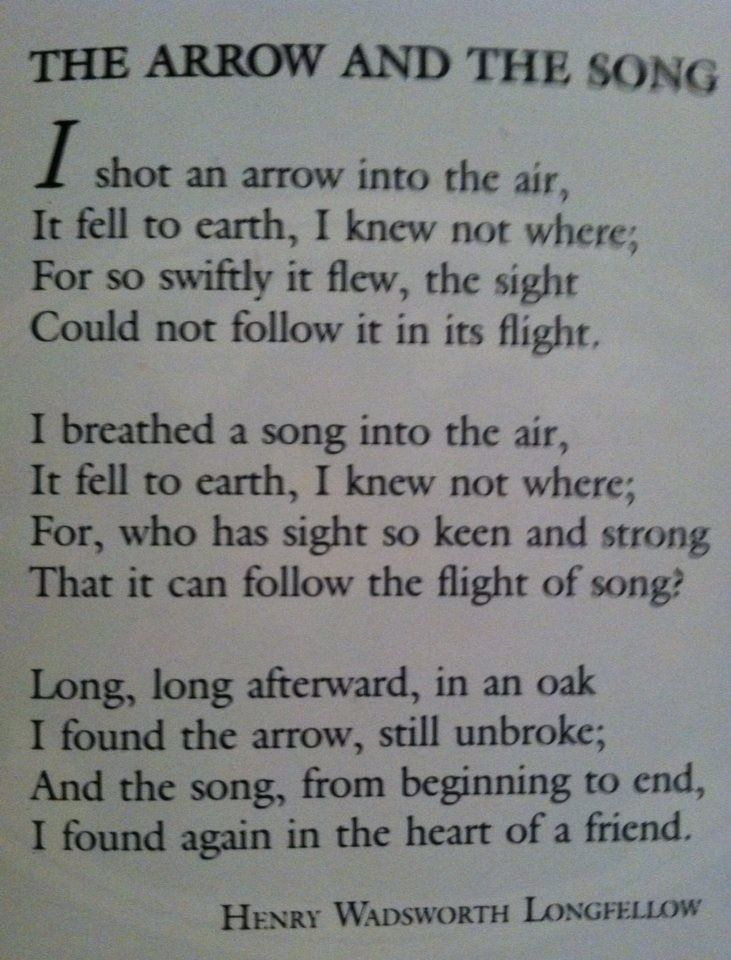A Henry Wadsworth Longfellow Poem.