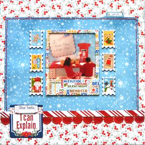 Christmas page created with BoBunny, Dear Santa collection by Teena Hopkins for My Scrappin' Shop. #BoBunny