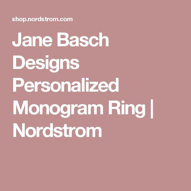 Jane Basch Designs Personalized Monogram Ring | Nordstrom