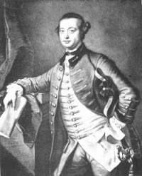 The Honourable George Townshend.  The second Brigadier of Wolfe's Army.