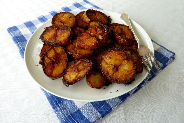 Marmite roast  Potatoes, I can vouch for these, delicious, recipe here