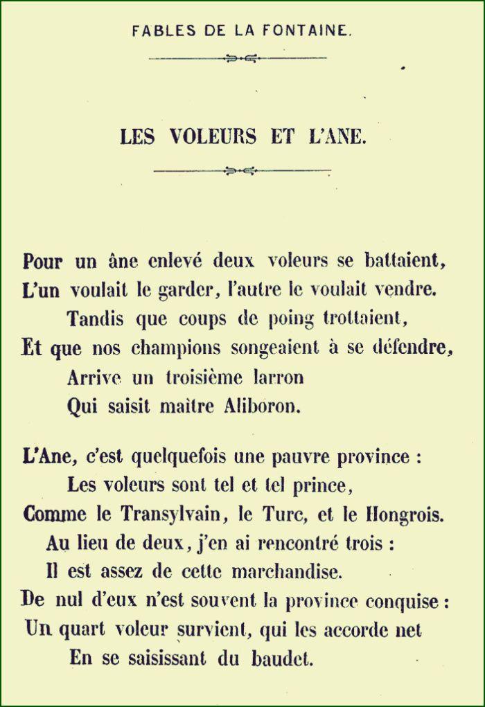 Jean de La Fontaine - Les voleurs et l'âne