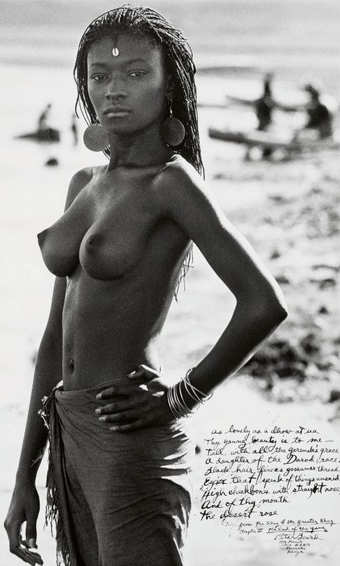 Princess Loingalani, El Molo Bay, Lake Rudolf, Kenya, 1967, by Peter Beard