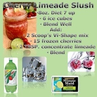 cherry limeade slush | Visalus body by vi Recipes | Pinterest