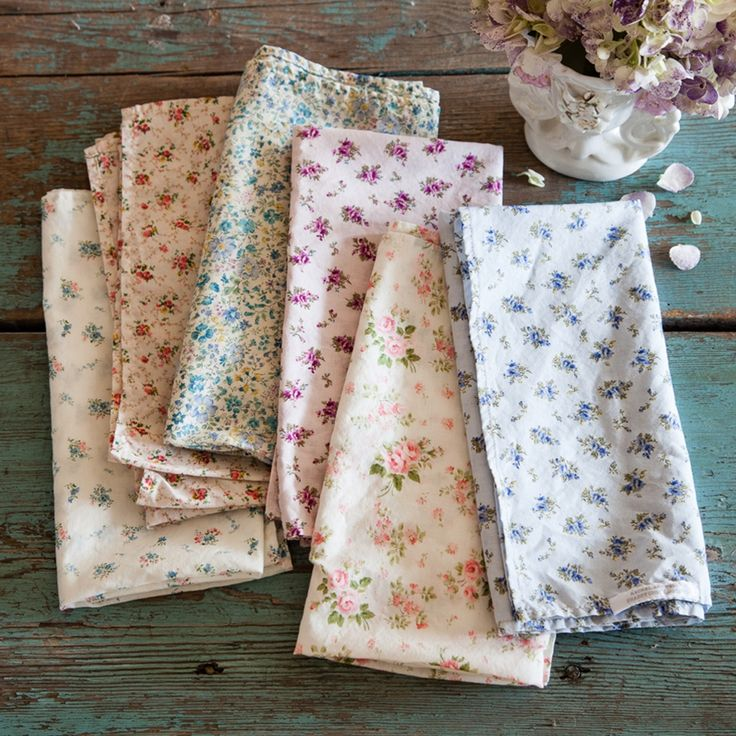 Spring Floral Napkins | Rachel Ashwell Shabby Chic Couture Floral Napkins