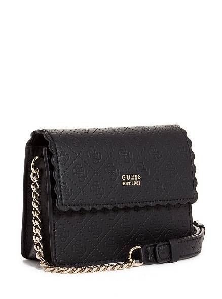 b75e295dbd7e Rayna Logo-Embossed Mini Crossbody at Guess