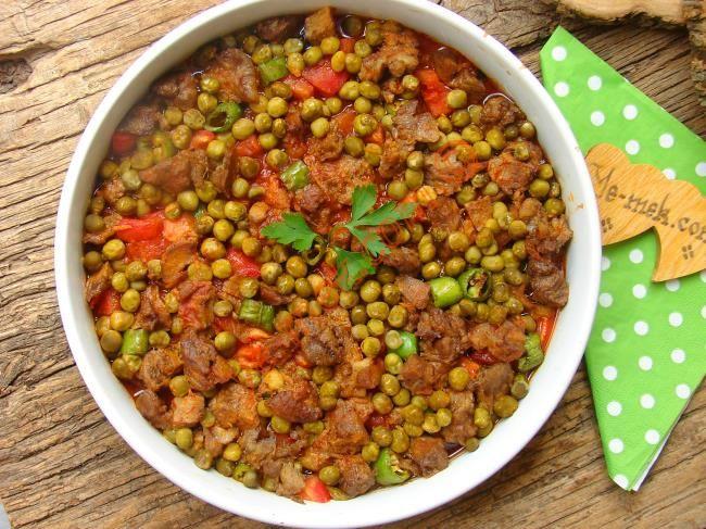 Fırında Bezelyeli Patlıcan Kebabı Resimli Tarifi - Yemek Tarifleri