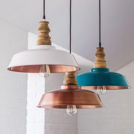 Aston Copper Pendants - Chandeliers & Ceiling Lights - Lighting - Lighting & Mirrors