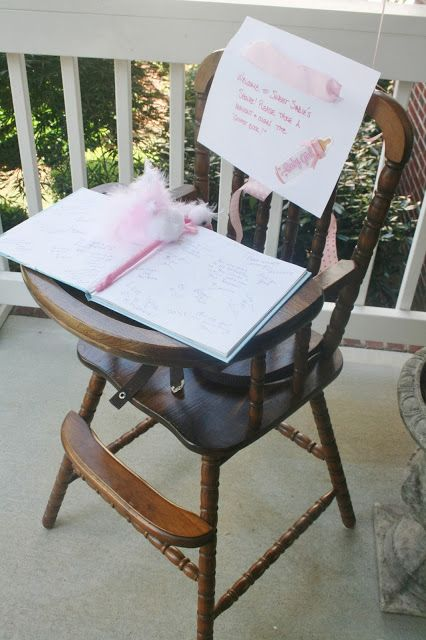 And Everything Sweet....... use a favorite storybook for a baby shower sign in