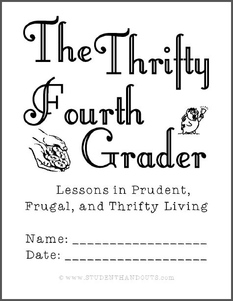 Thrifty Fourth Grader Workbook - Here's a fun workbook to get kids thinking about personal finance, and preparing for Thrift Week. Ten pages in length, it's designed to be printed on five sheets of paper. This self-directed workbook teaches the principle of thrift. We recommend giving it to kids to keep them occupied and learning over winter recess. FYI: There is plenty of cursive script handwriting practice. Free to print (PDF file).