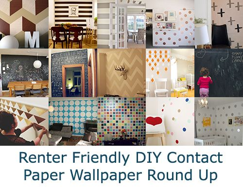 When You Cant Paint Part 2: Contact Paper Wallpaper. Damage free and Renter friendly. - Temporary Digs