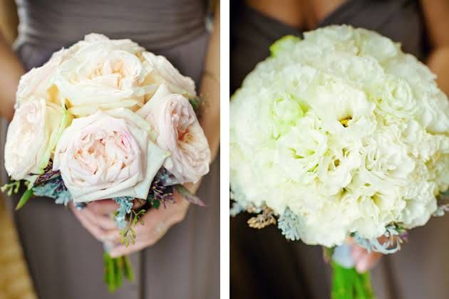 Rose and Lisianthus Bridesmaid Bouquets