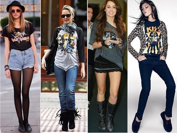 oe5 Camisetas de Banda de Rock Femininas. Você curte?