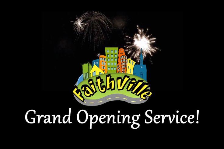 The Faithville / Faith Park Grand Opening service on Sunday, September 8th, 2013