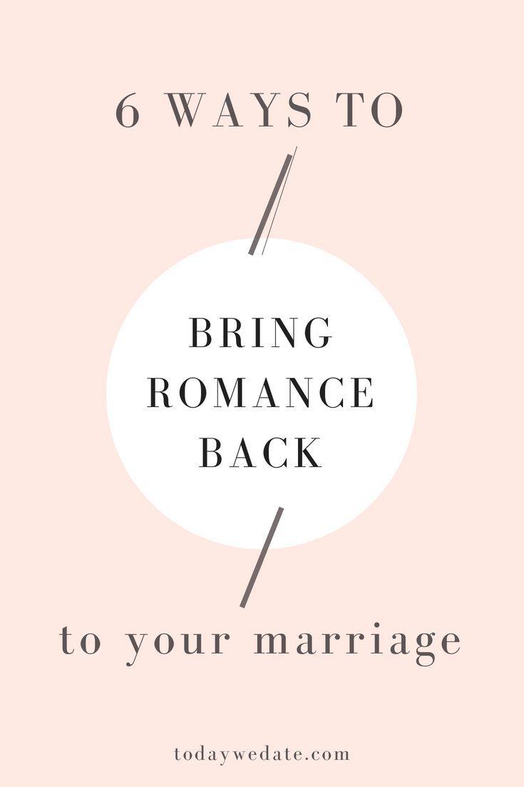 ideas to rekindle romance