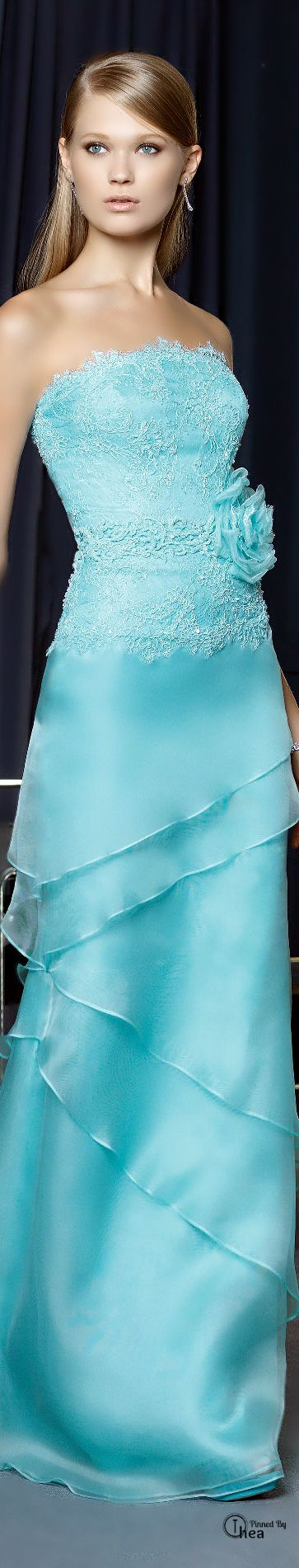 Vestido fiesta escote palabra de honor. Rosa Clará ● 2014 Palabra de www.palmiracompilar.com #homenajeatuangel