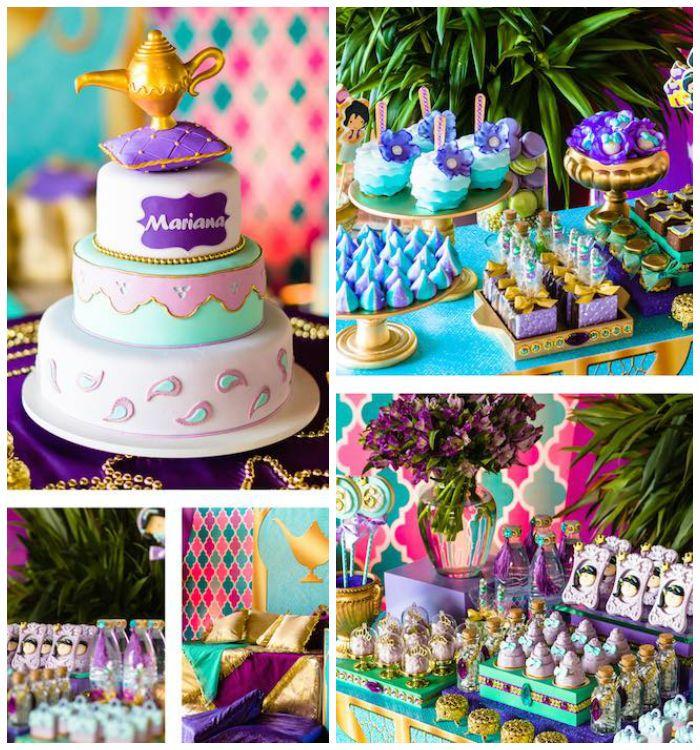 princess jasmine birthday party via karaus party ideas