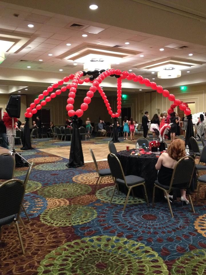 casino or red and black theme dance floor canopy