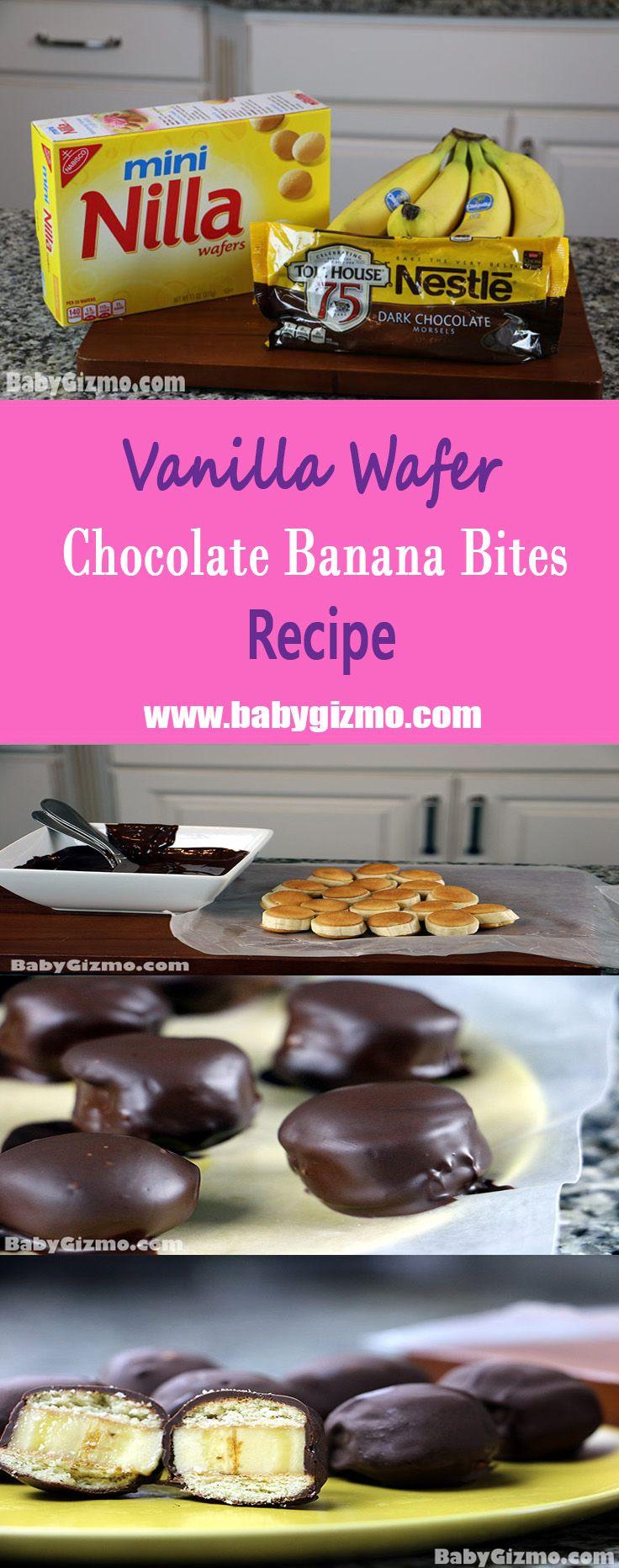 Vanilla Wafer Chocolate Banana Bites Recipe- Simple, easy, and delicious! #NillaWafers #Banana #Chocolate
