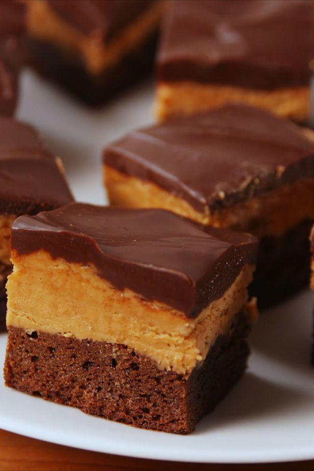 Buckeye Brownies  - Delish.com // Made them and they were