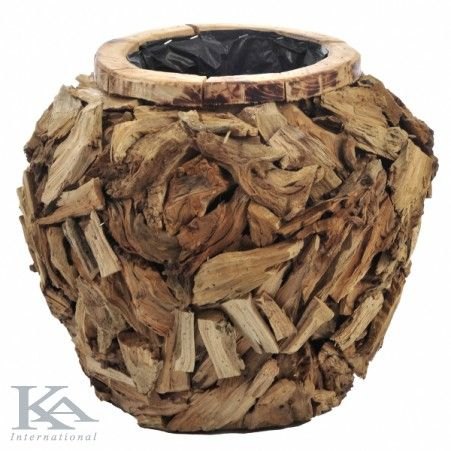 Wood Vase.