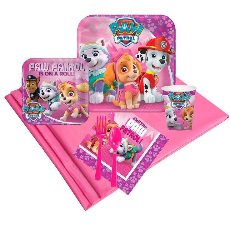 Pink Paw Patrol Girl Party Pack (8) from BirthdayExpress.com