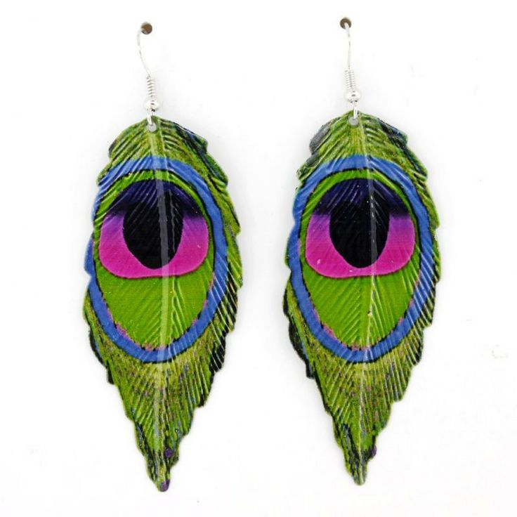 Peacock Feather Meaning   Special Colorful Peacock Feather Pattern Leaf Drop Dangle Earrings 402 ...