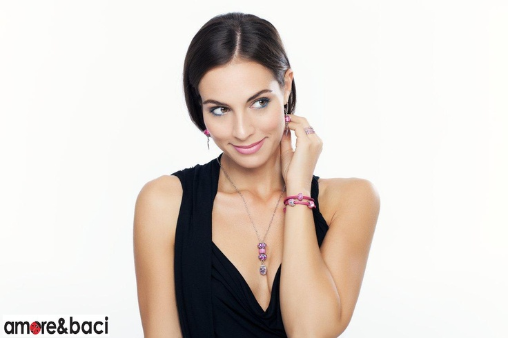 Amore & Baci 2013 campaign - FUCHSIA beads - necklace, bracelet, earrings, rings
