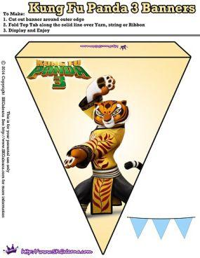 Tigress Banner - Kung Fu Panda 3 Free Party Printables | SKGaleana
