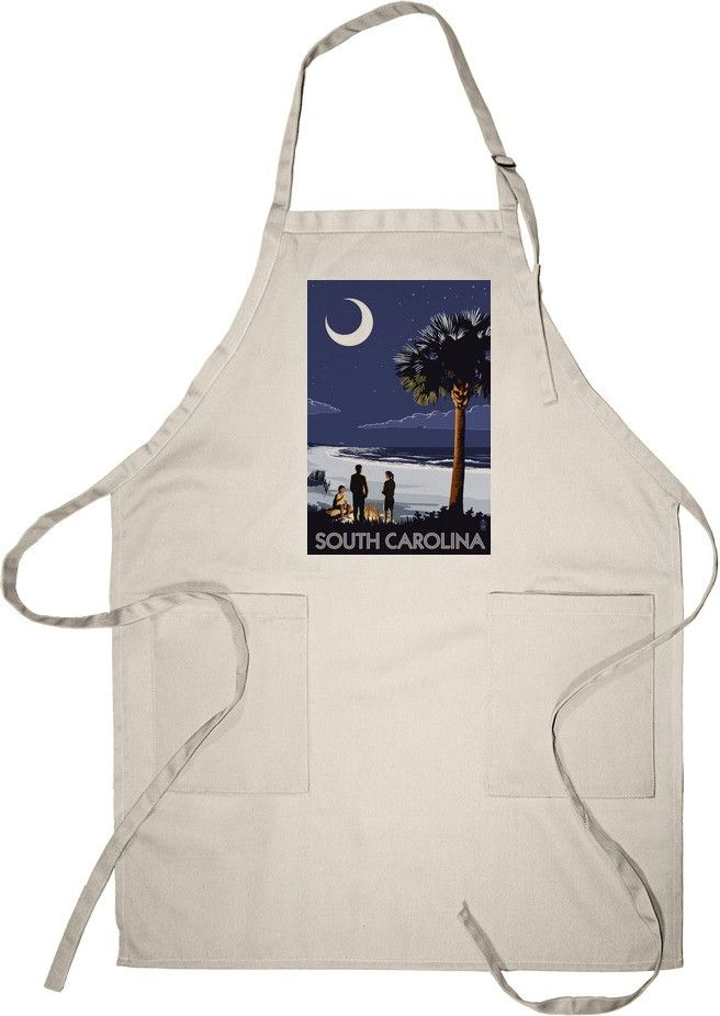 South Carolina - Palmetto Moon - Lantern Press Artwork