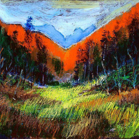 Mountain Meadow Landscape by Dennis Weber of ShreddyStudio