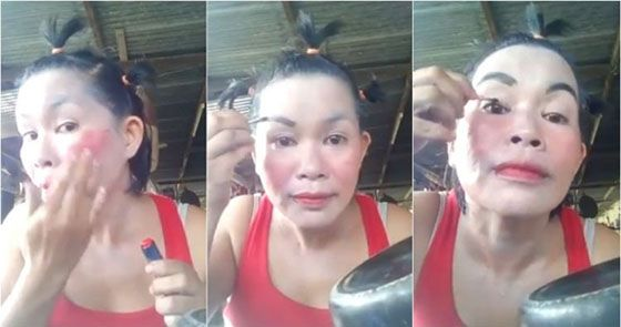 Video Lucu Tutorial Make Up ala Emak Emak Yang Bikin Ngakak